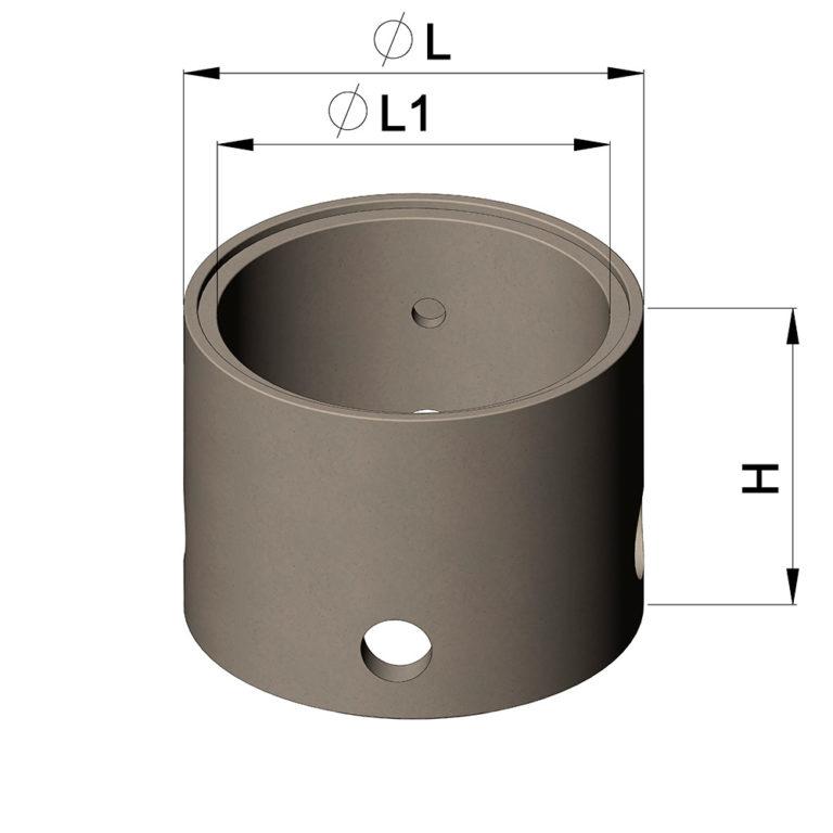 сколько стоит бетонное кольцо диаметр 1 метр